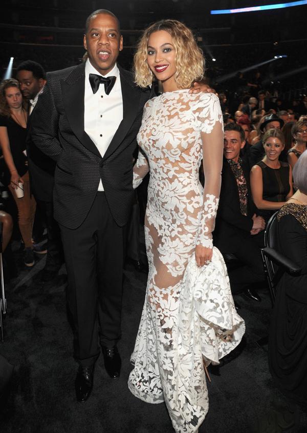 Beyonce 2014 Grammy Red Carpet Michale Costello Custom