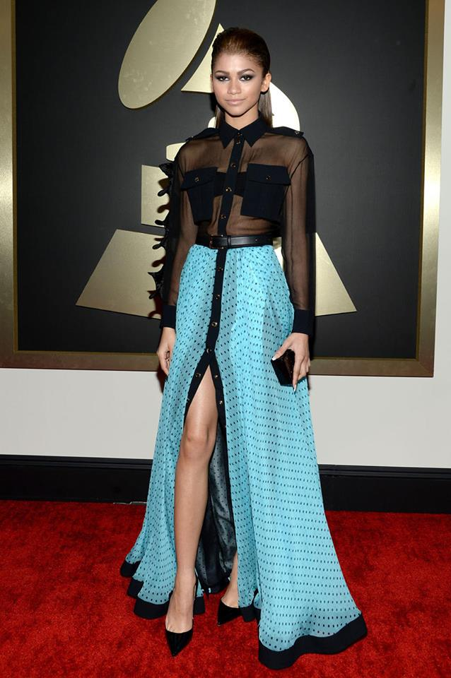 2014 Grammy Red Carpet Fashion Zendaya Yay Or Nay Make Up Hair Lashes Oh My